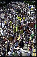 Marchers fill streets