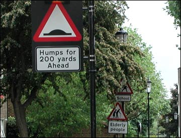 humps for 200 yards