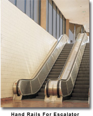 Commercial Projects Hand Rails for Escalator