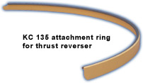 Kc 135 attachment ring for thrust reverser