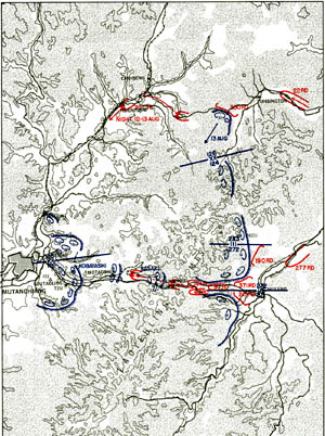 Map 4-4. Situation, 12 August Click For Full Size Image