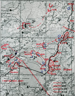 Map 5-1. Japanese and Soviet Positions on the Eve of the Attack. Click For Full Size Image