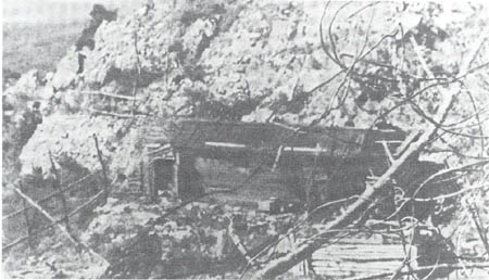 Japanese fortified position in eastern Manchuria destroyed by Soviet artillery fire.