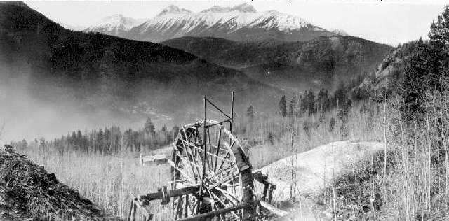 BC Archives # D-07821, the Old Arrastra at the Lorne Mine, Bralorne BC Photo: Artie Phair