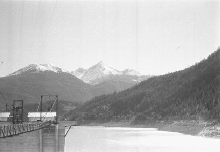 View of Mt. Sloan from Lajoie Dam, 1990s