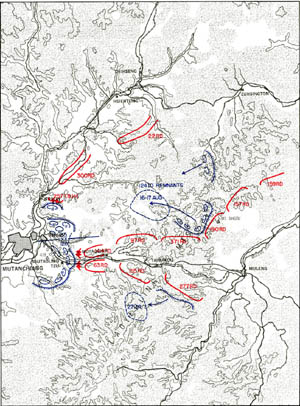 Map 4-6. Situation, 14 August Click For Full Size Image