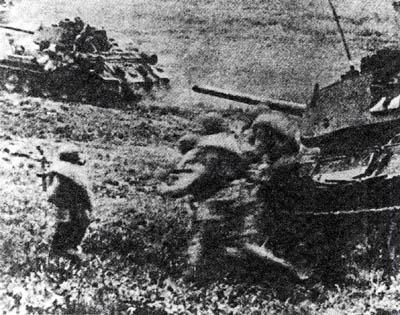 Tanks and infantry in an assault
