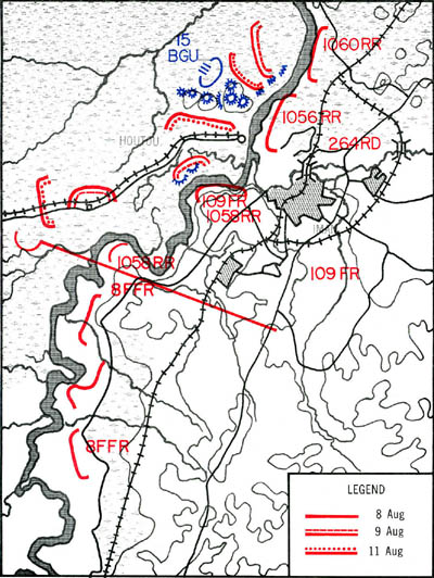 Map 5-4. Soviet Attack on Hutou. Click For Full Size Image