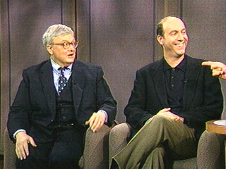 Roger Ebert and the late Gene Siskel on Letterman