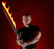 Theodore Beale and flaming sword