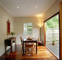 Polished timber flooring