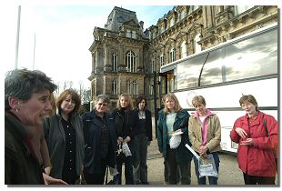 Picture of tourists with guide at the Bowes Museum