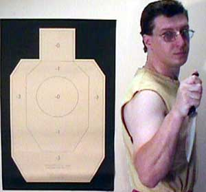 IDPA target in perspective