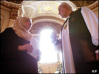 The Bishop of London and Dr Fatna Amer