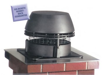 Large selection of chimney caps including this Exhausto Fans, a combination exhaust fan and chimney cap.
