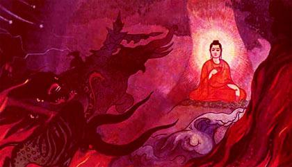 Siddhartha Gautama tempted by Mara