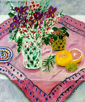 Pink Cloth and Still Life