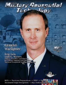 Brigadier General Dale C. Waters - Military Executive and Director<br /> for Military Support and Operations<br /> National Geospatial-Intelligence Agency