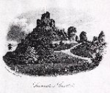 Launceston Castle : Old picture of Launceston Castle