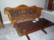 liberty ship wood hatch cover coffee table