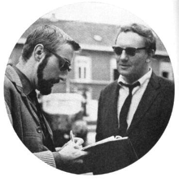 Oolbekkink met Claus tijdens de opnamen van 'Het mes'