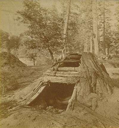 1585 - Paiute sweatlodge in Yosemite.