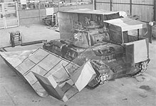 Tank camouflage made to look like a lorry 1942