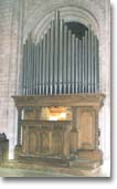 The organ console