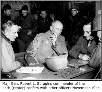 Major General Robert L. Spragins 44th Infantry Division vosges