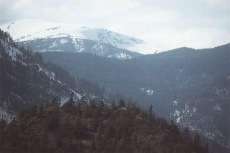 Mt. MacLean from Bridge River Bridge