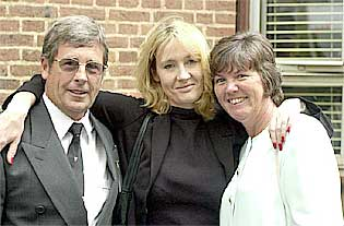 J K Rowling with her father and step-mother Janet.