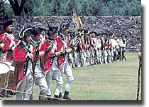 A photo of the 1st Maryland Regiment at Fort Frederick State Park.