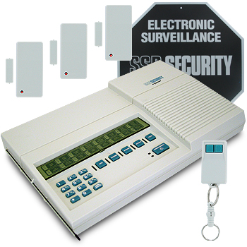 Wireless home security alarm