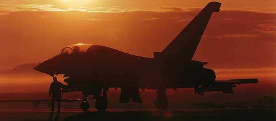 A Typhoon at sunset