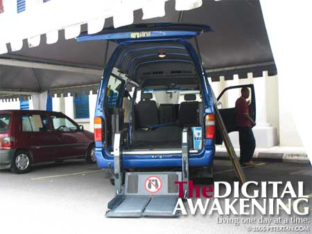 Lift van from Mobiliti at the BAKTI-MIND Exhibition