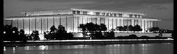 [Black and white photo of the Kennedy Center.]