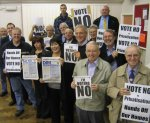 Swansea tenants, councillors, trade unionists and Sian James MP campaigning for No vote
