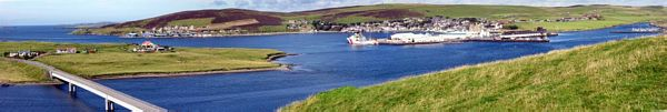 View of Scalloway from East Voe