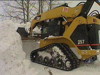 The city claims it is already $2 million over its snow removal budget. (Scott Jensen/KTUU-TV)