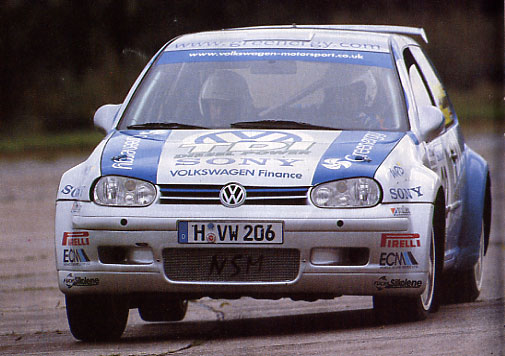 VW Golf turbodiesel Rally Car