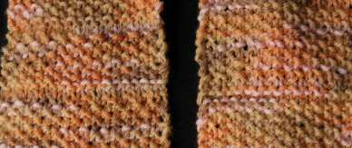 Aran Print Seed Stitch Scarf - 100% wool - a free knit ...