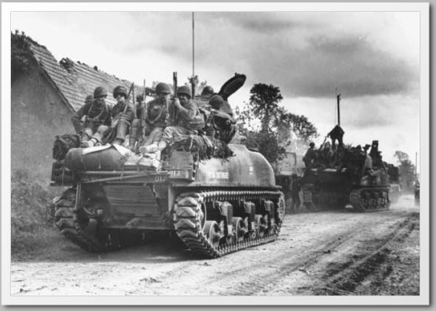 sherman tank mounted infantry