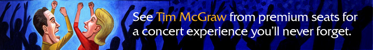 Click here for Tim McGraw tickets.