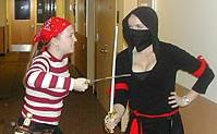 Pirates versus Ninjas: a kunoichi at the mercy of a pirate wench