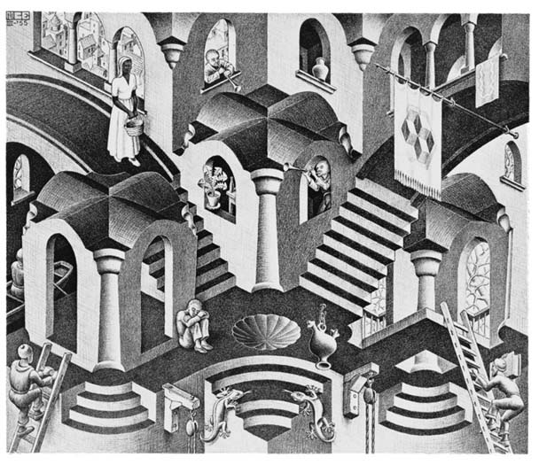 MC Escher - Concave and Convex