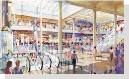 An artist's impression of the refurbished Broad Street Mall