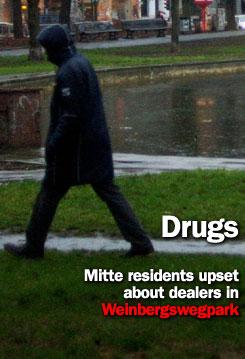 Drug dealers in Weinbergswegpark