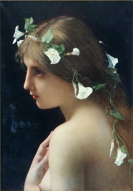 Nymph with Morning Glory Flowers Image. (1855-1901). Lefebvre, Jules Joseph.  Retrieved on January 9, 2008 from http://en.wikipedia.org/wiki/Beauty