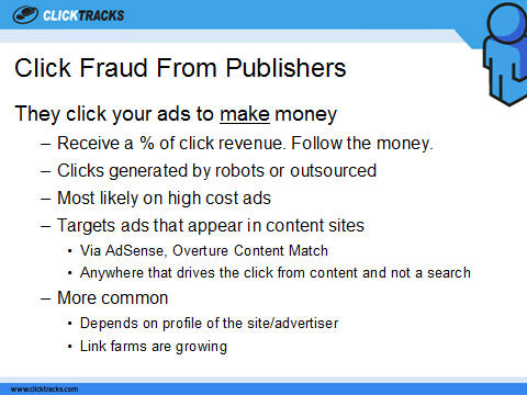 Click Fraud from Publishers