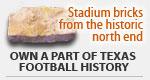 North end stadium bricks